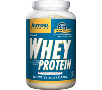Whey Protein 100% Natural 908g Unflavoured   Jarrow Formulas