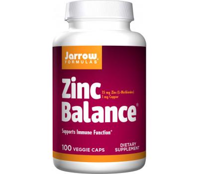 Zinc Balance 15mg 100 capsules - synergistisch werkende combinatie van gecheleerd zink en koper | Jarrow Formulas
