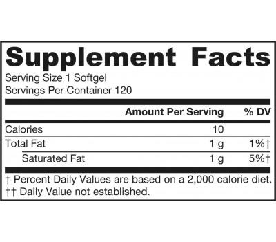 Coconut Oil (Organic Extra Virgin) 120 capsules - extra vergiene biologische kokosolie | Jarrow Formulas