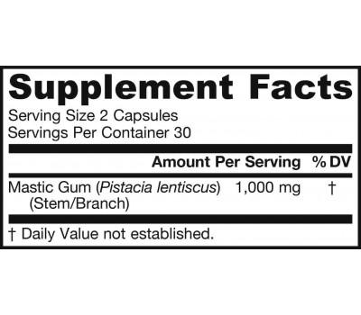 Mastic Gum 500mg 60 capsules kleinverpakking - mastiek van Pistacia lentiscus | Jarrow Formulas