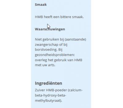 HMB powder 200g - beta-hydroxy-beta-methylbutyrate | Power Supplements