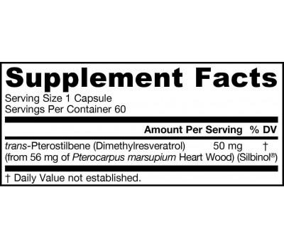 Pterostilbene 60 capsules - werkzame stof in resveratrol | Jarrow Formulas