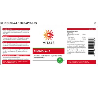 Rhodiola-LF 60 capsules - 5% rosavines | Vitals