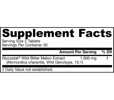 Wild Bitter Melon Extract 60 tablets from Glycostat | Jarrow Formulas